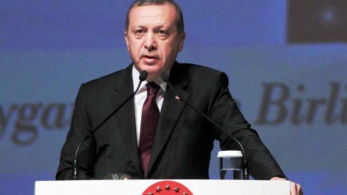 El presidente de Turquía, Recep Tayyip Erdogan, en una comparecencia pública. (Foto: Getty)