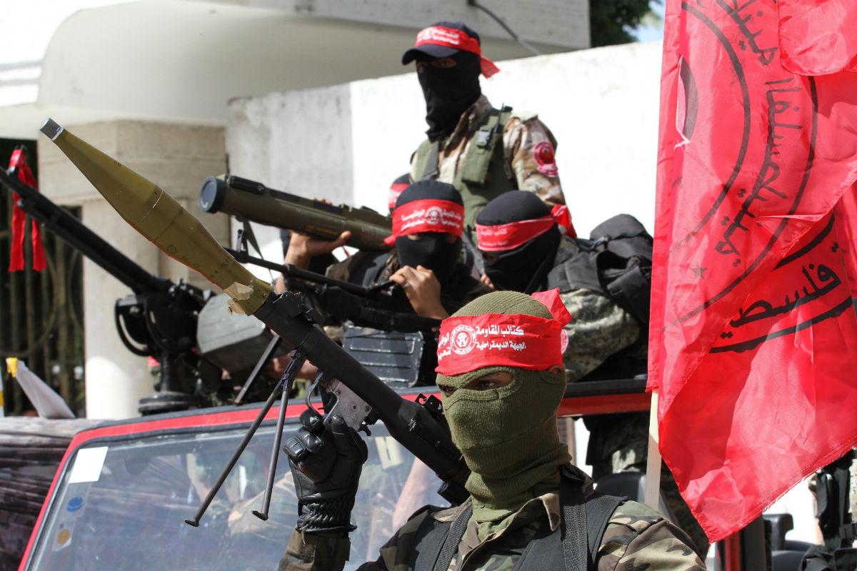 Miembros de las Brigadas de Resistencia Nacional, del FDLP, en Gaza (Foto: GETTY).