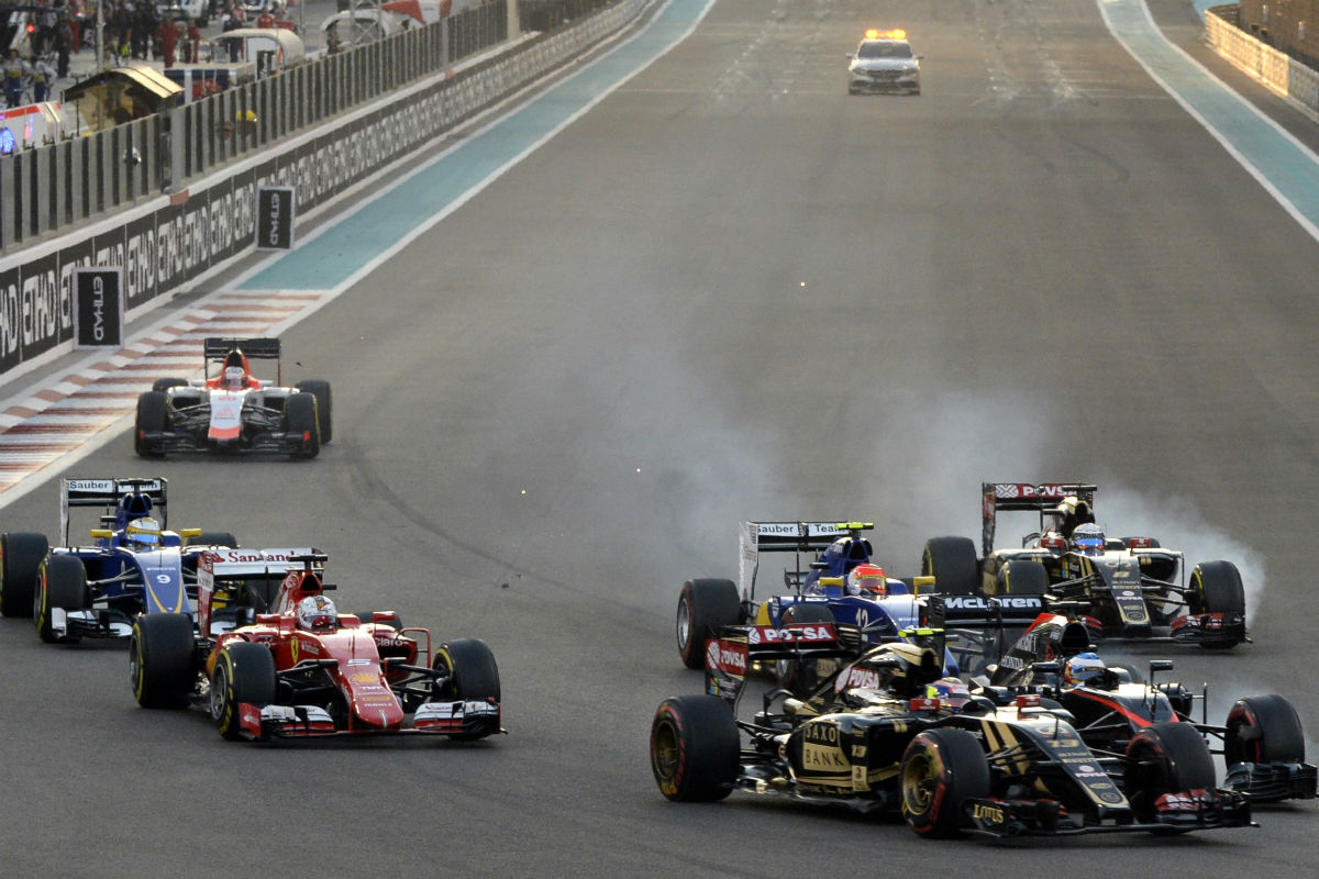 Fernando Alonso tuvo un toque en la salida (Getty)