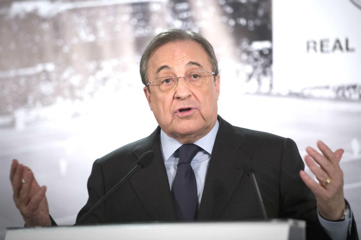 Florentino Pérez, en una rueda de prensa. (EFE)