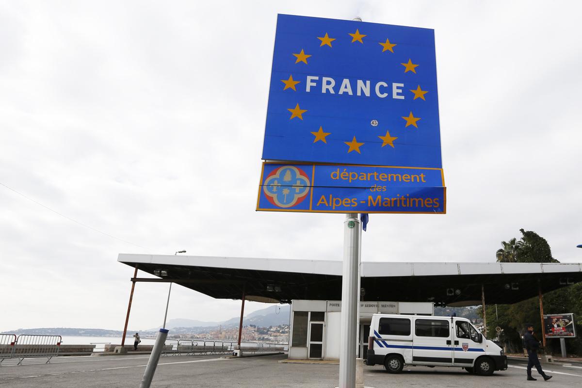 Frontera francesa. Foto: AFP