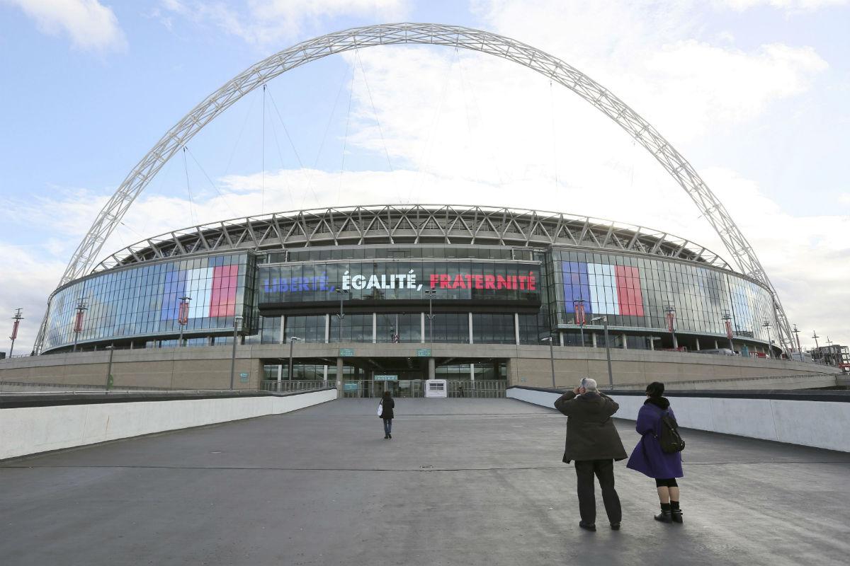 Wembley acoge el partido entre Francia e Inglaterra