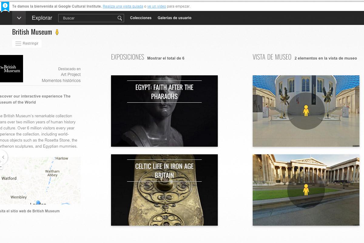 El Museo Británico pone en línea sus tesoros.