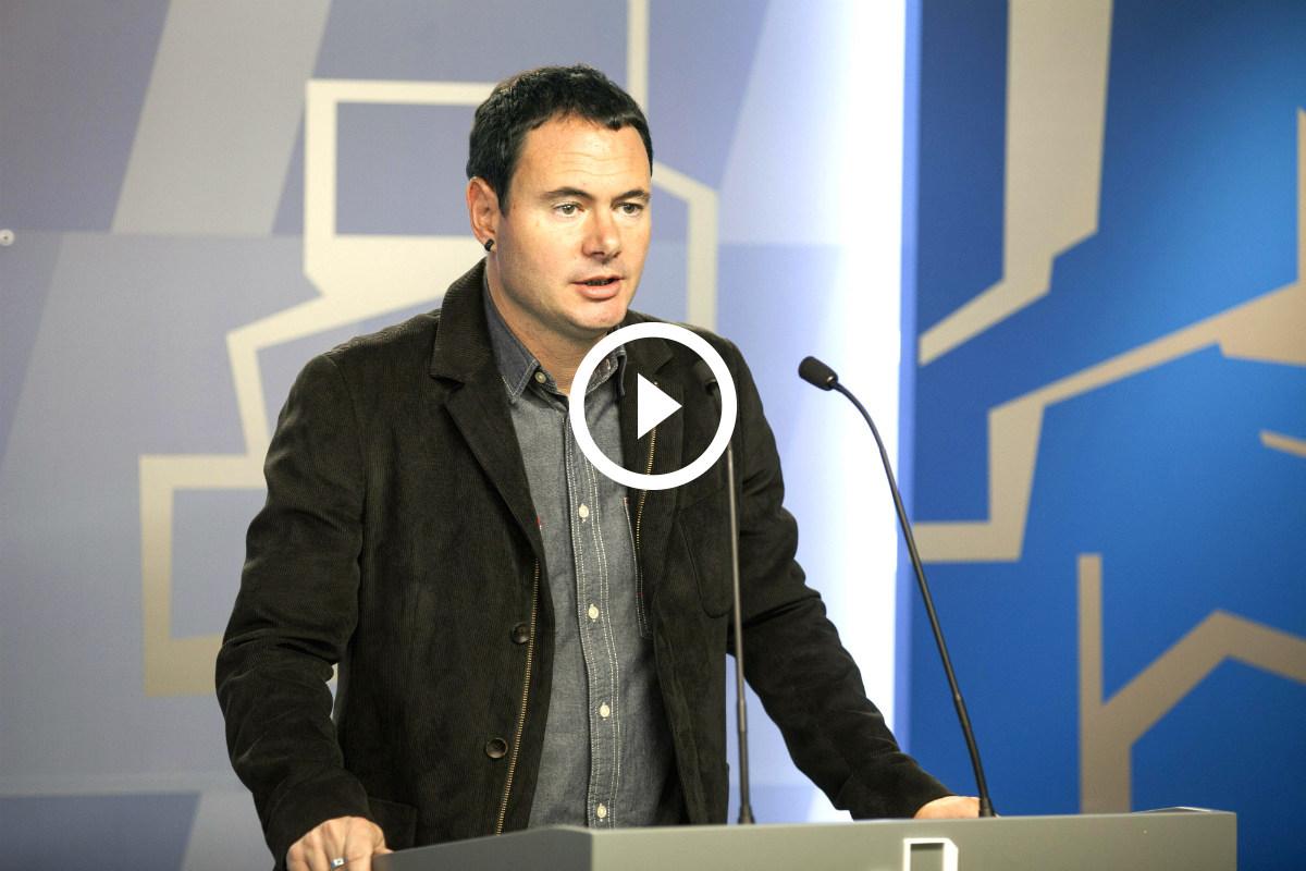 Hasier Arraiz, líder de Sortu y parlamentario de EH Bildu