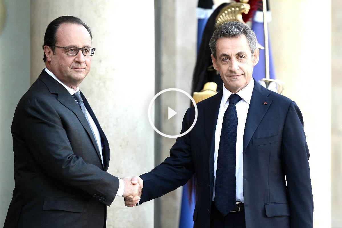 Hollande y Sarkozy se reunieron en el Elíseo (Foto: AFP)