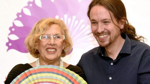 Manuela Carmena y Pablo Iglesias. (Foto: EFE)