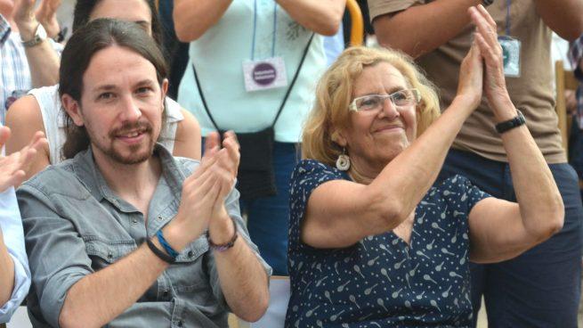 Pablo Iglesias y Manuela Carmena (foto: Ahora Madrid).