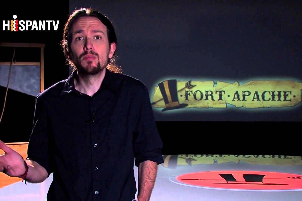 Pablo Iglesias en HispanTV (Foto: Fort Apache).