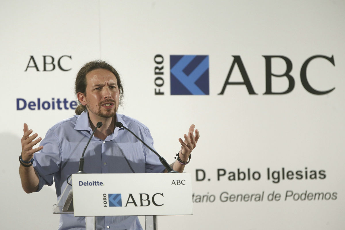 Pablo Iglesias en el Foro ABC-Deloitte. (Foto: EFE)