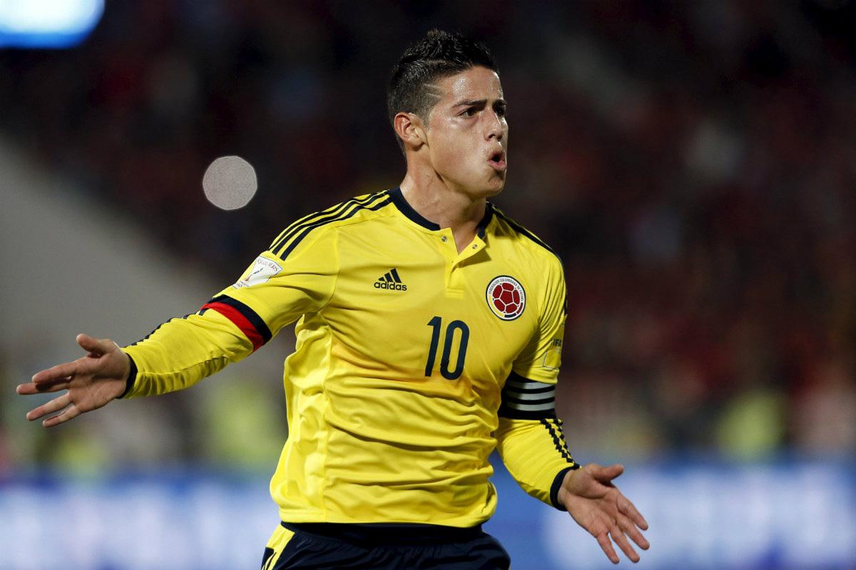 James Rodríguez firmó el gol de Colombia ante Chile (Foto: Reuters)