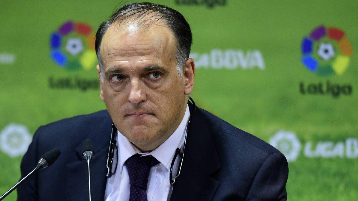 Javier Tebas, presidente de la Liga de Fútbol Profesional. (AFP)