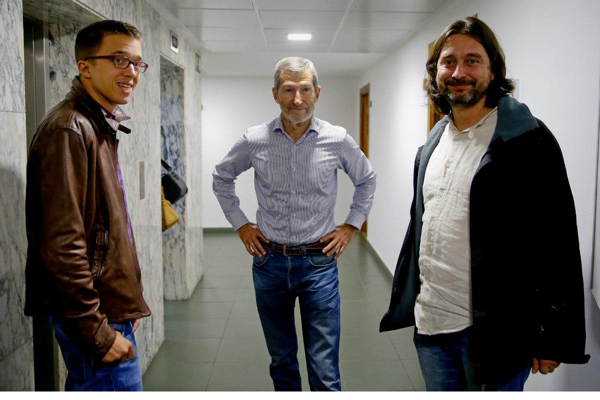 Iñigo Errejón, José Julio Rodríguez y Rafa Mayoral