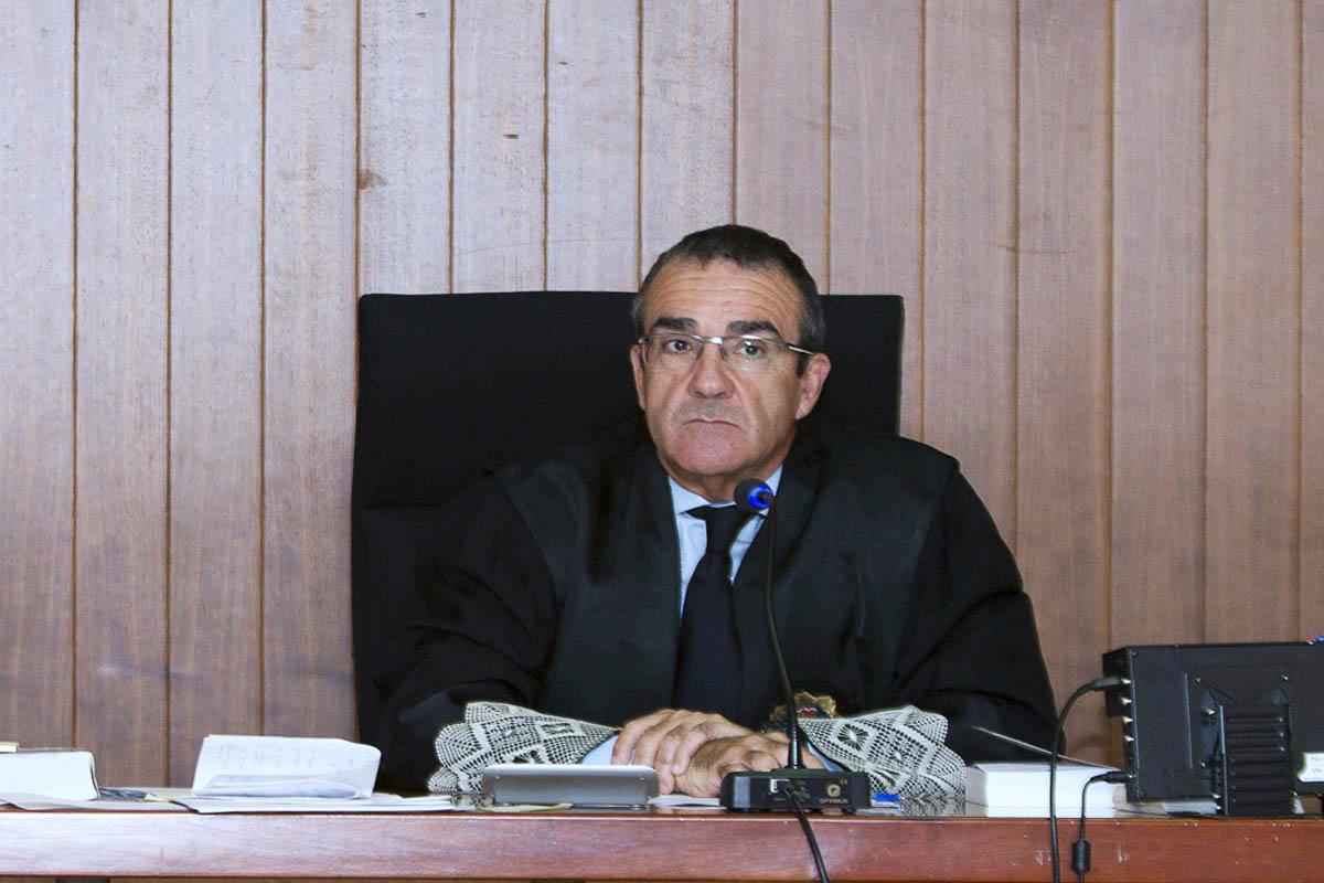 El magistrado Juan Pedro Yllanes en una sala del juzgado. (Foto: EFE)