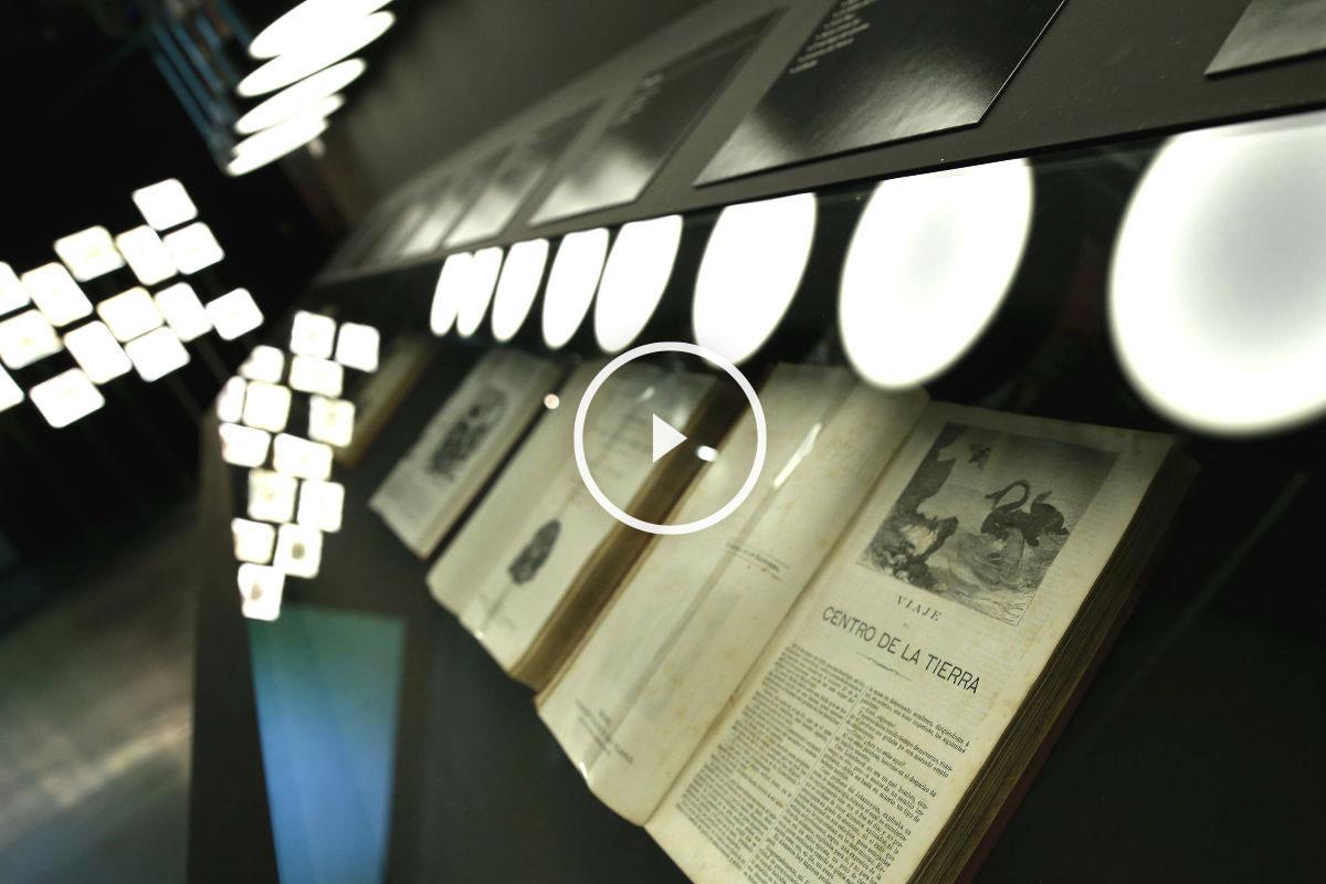 Imagen de la exposición sobre Julio Verne (Foto: Efe)