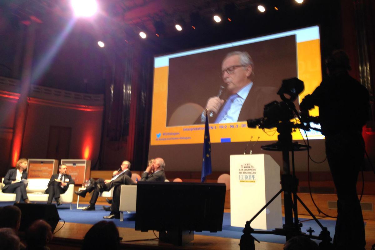 Juncker en el centro artístico BOZAR en Bruselas (Foto: Fernán González).