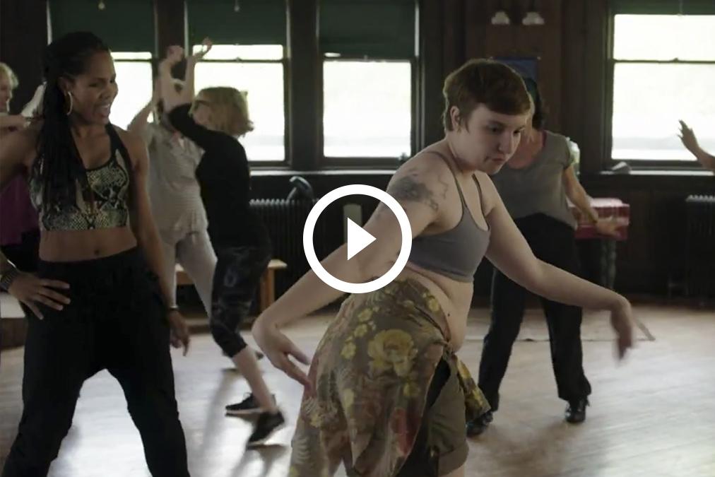 El baile sexy de Lena Dunham se hace viral