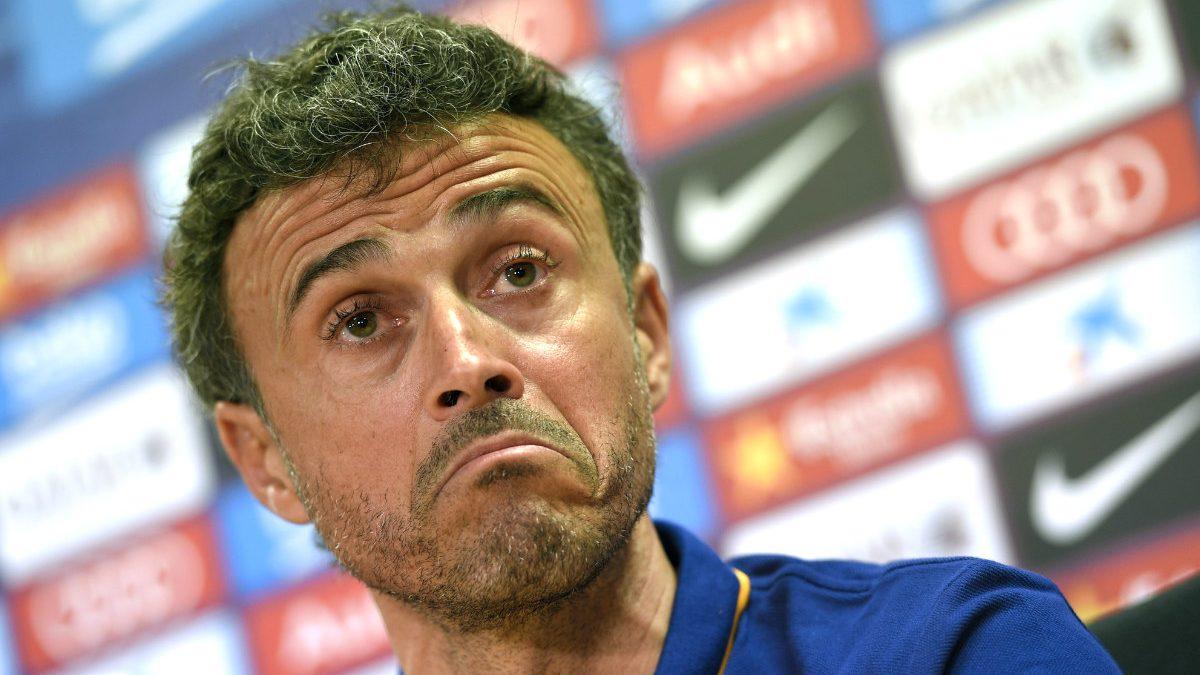 Luis Enrique, en rueda de prensa. (AFP)