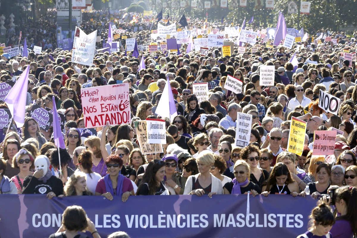 Manifestación por las calles de Madrid (Foto: Efe)