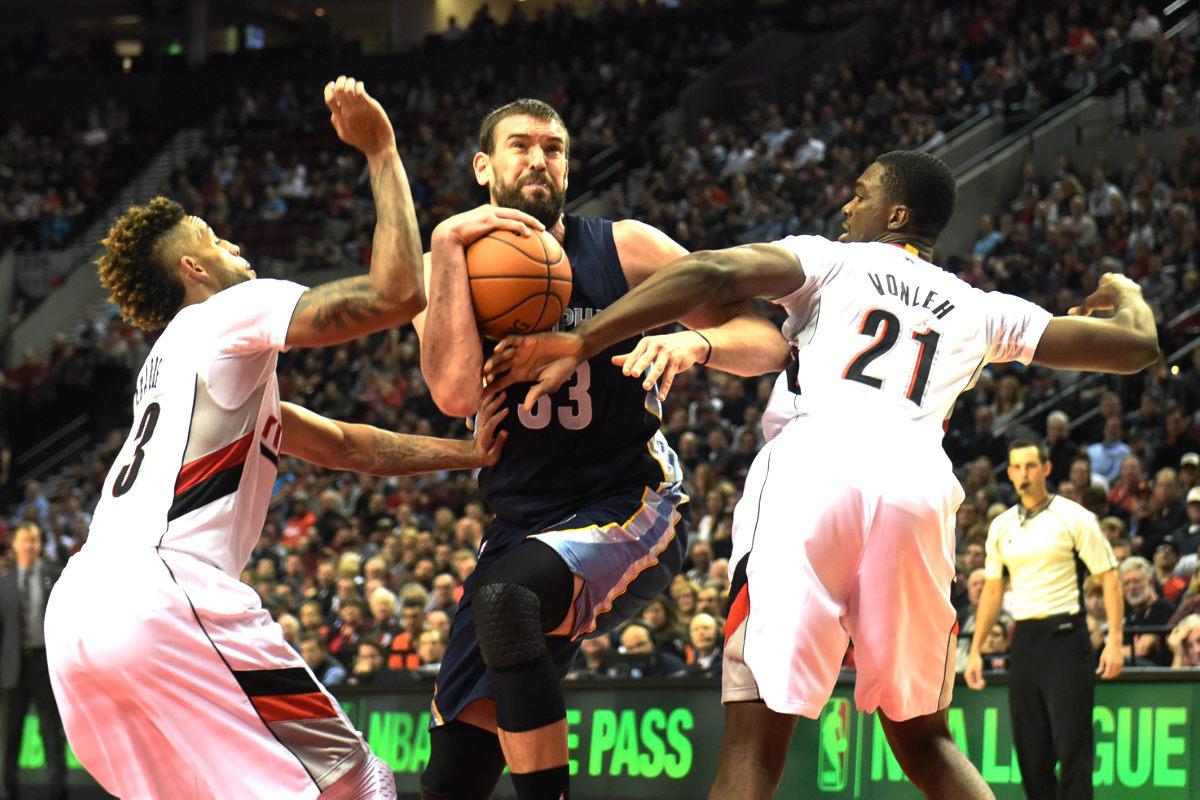 Marc Gasol, en un partido con los Grizzlies. (Getty)