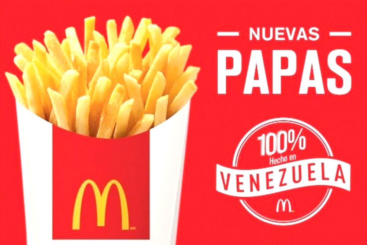 Anuncio de McDonalds en Venezuela.