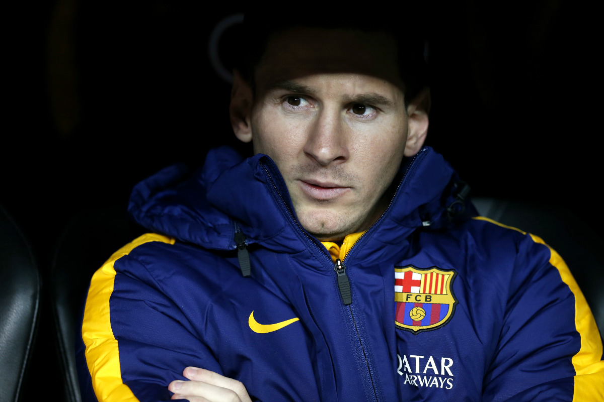 Leo Leo Messi, en el banquillo del Santiago Bernabéu (Reuters)