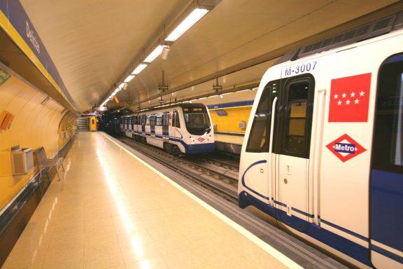 Estación y trenes del Metro de Madrid (Foto: Metro de Madrid).