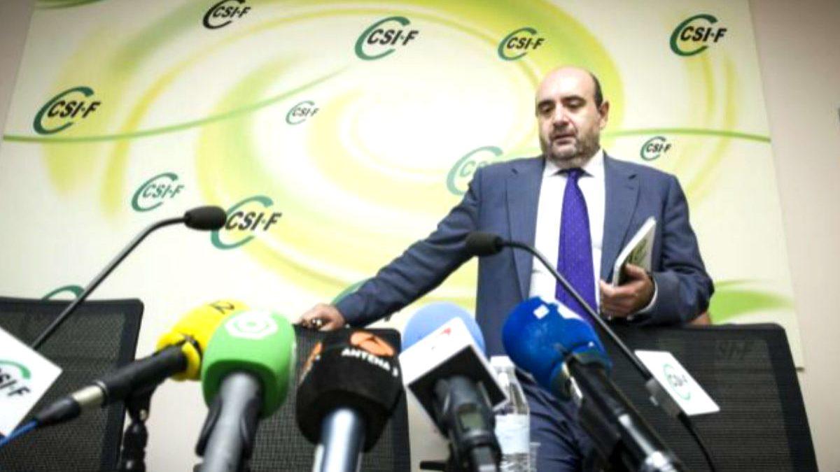 El presidente de CSI-F, Miguel Borra (Foto: Efe)