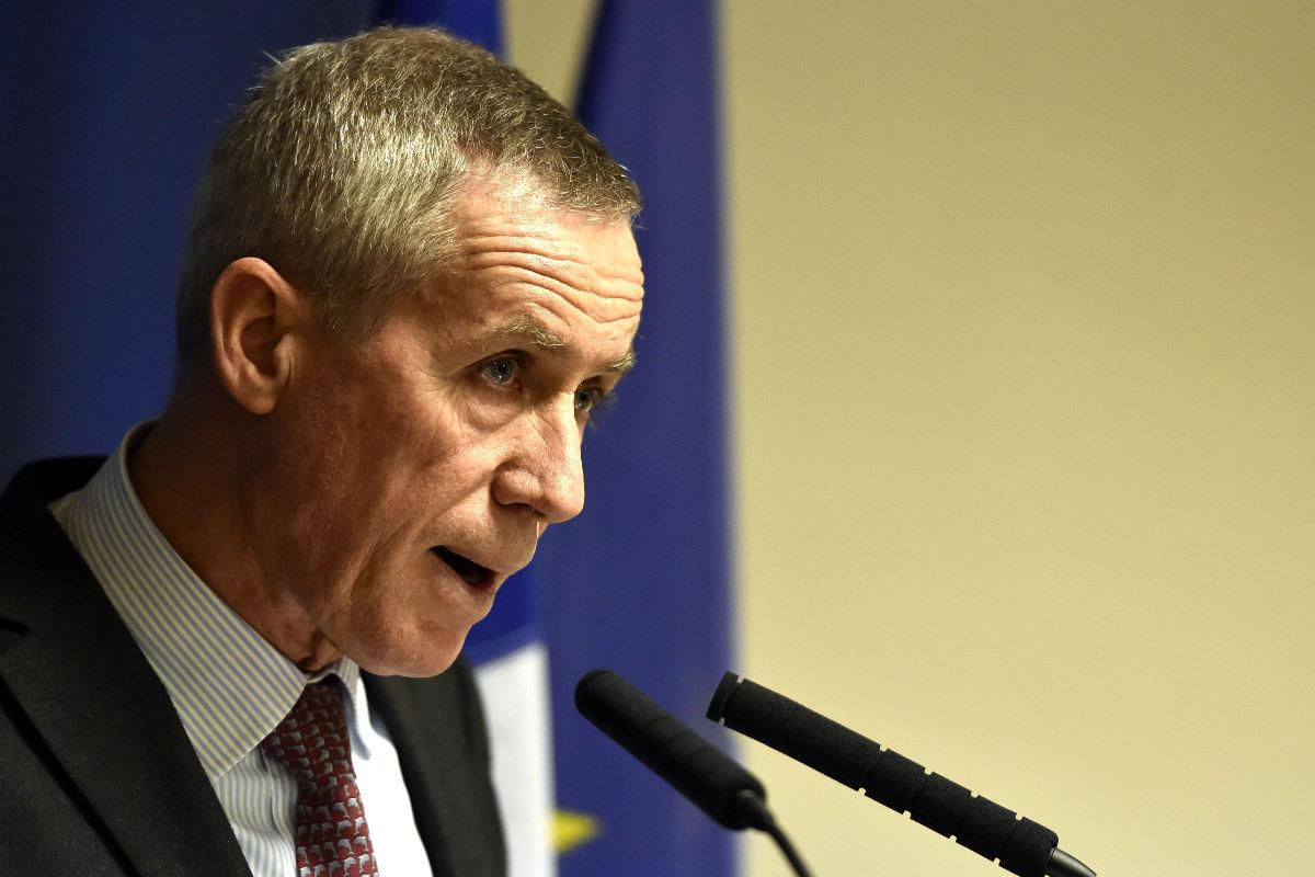 El fiscal general de Francia François Molins en una reciente rueda de prensa (Foto: Efe)