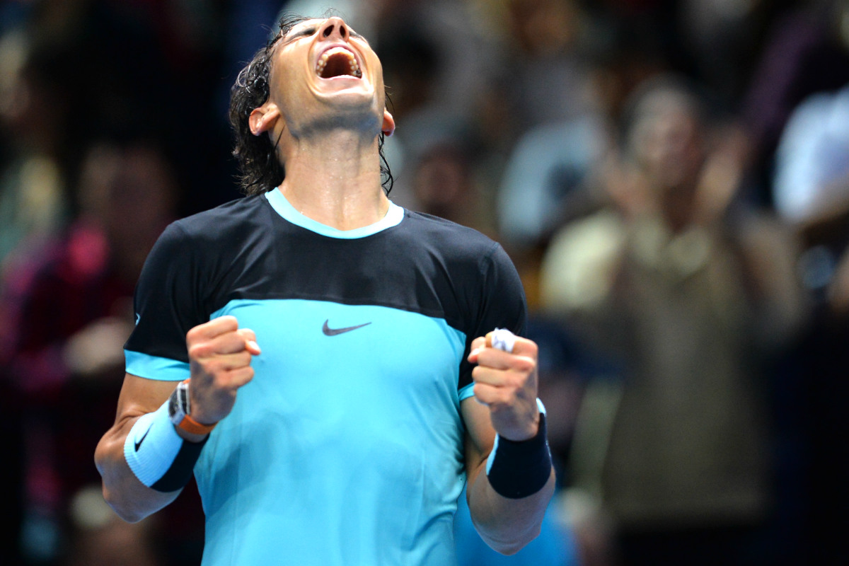 Nadal celebra eufórica la victoria ante Ferrer (Foto: AFP)
