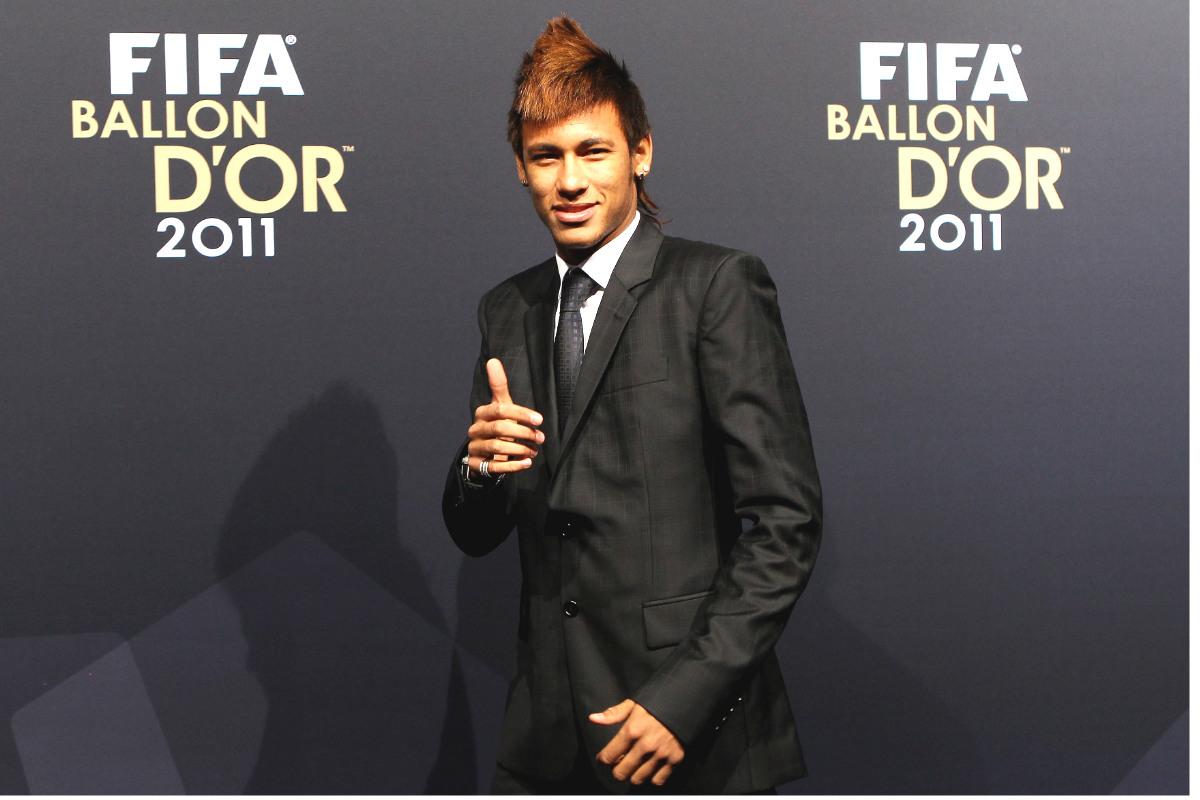 Neymar, en la gala del Balón de Oro de 2011. (Getty)