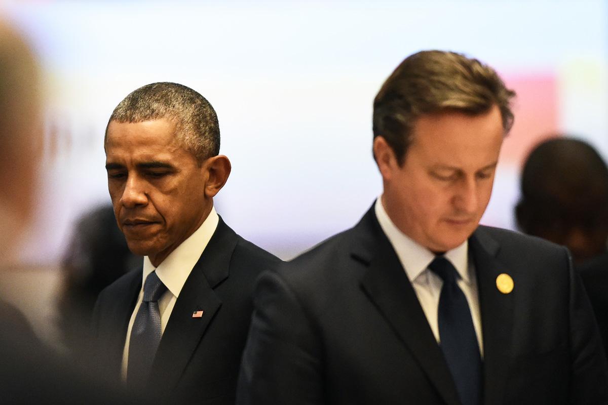 David Cameron y Barack Obama durante el G20 celebrado en Antalya. (Foto: AFP)