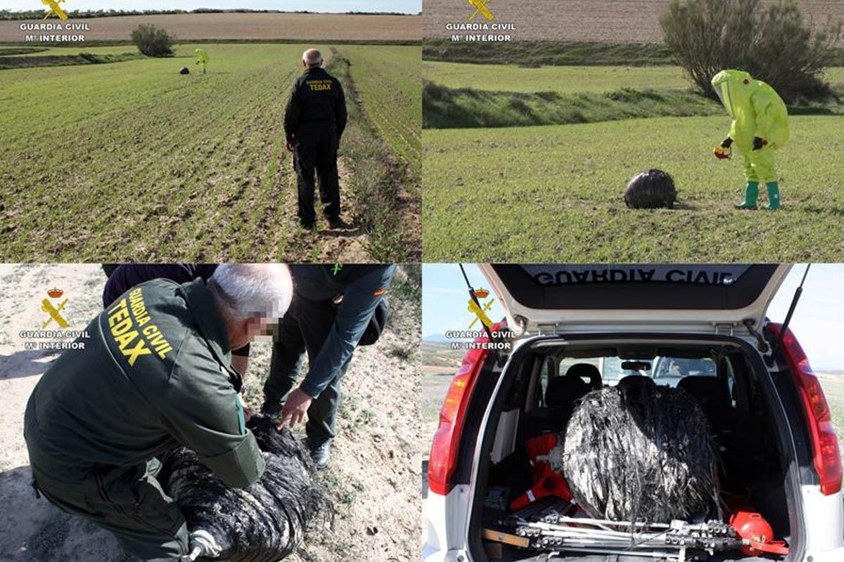 El objeto ha sido retirado y guardado a la espera de que algún organismo lo reclame. (Foto: Guardia Civil)
