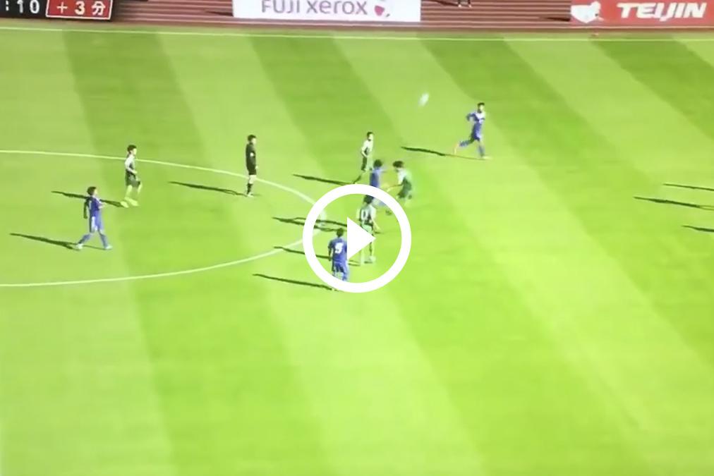 Un gol al más puro estilo de 'Oliver y Benji'