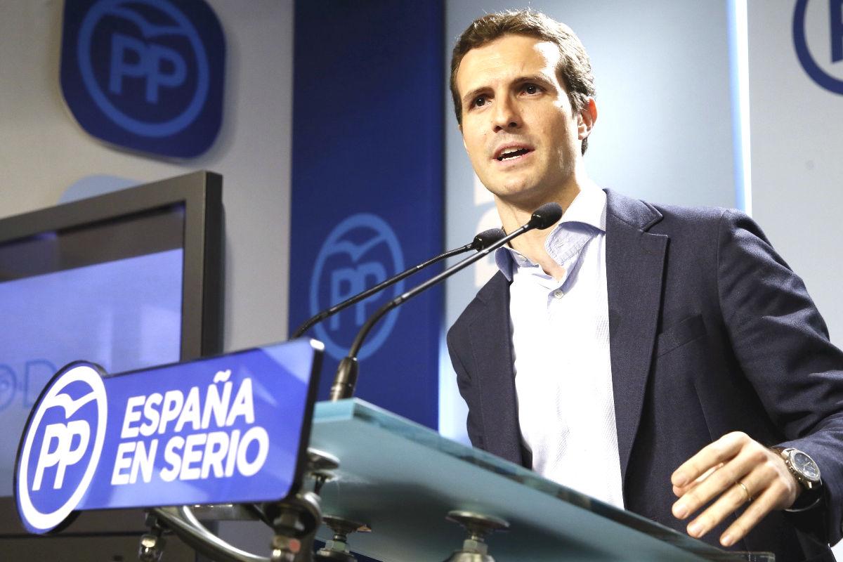 El vicesecretario de Comunicación del PP, Pablo Casado (Foto: Efe)