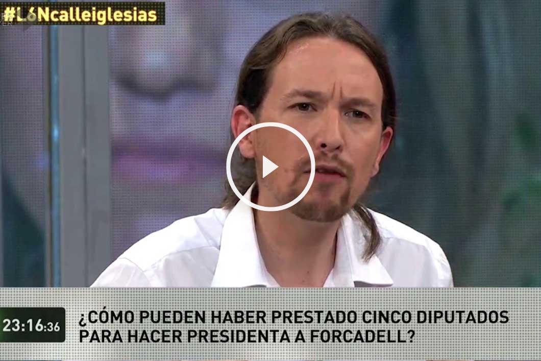 Pablo Iglesias, hoy durante su intervención en La Sexta Noche