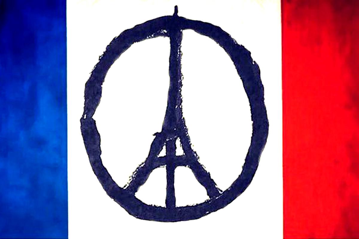 La Torre Eiffel representando el símbolo de la paz, uno de los motivos más compartidos en las redes sociales tras los ataques en París.