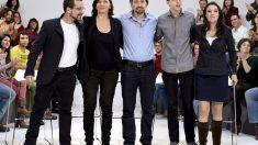 Dirigentes de Podemos en un acto de campaña (Foto: EFE)