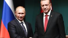 Vladimir Putin y Recep Tayyip Erdogan. (Foto: AFP)
