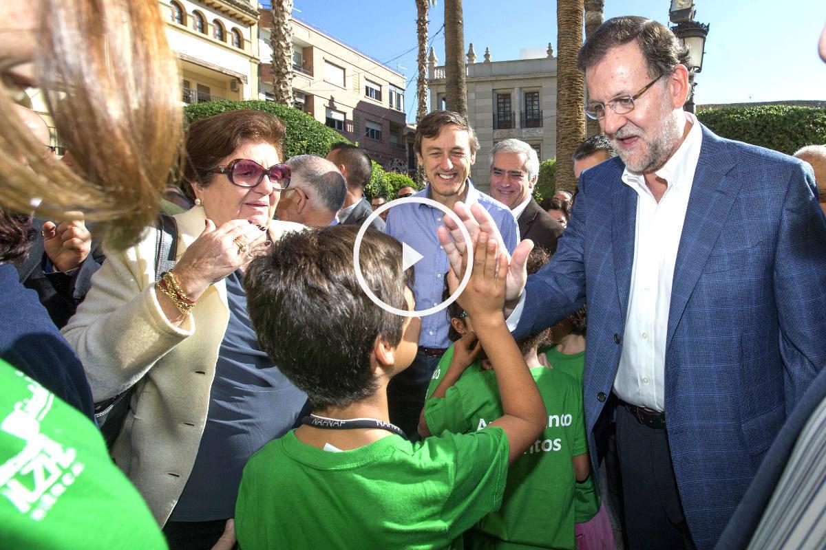 Rajoy durante un acto en la provincia de Almería (Foto: Efe)