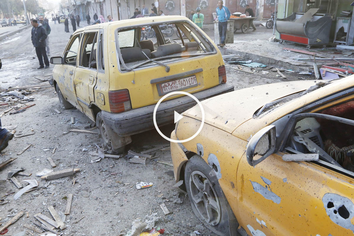Bombardeo sobre Raqqa en noviembre de 2014. (Foto: Getty)