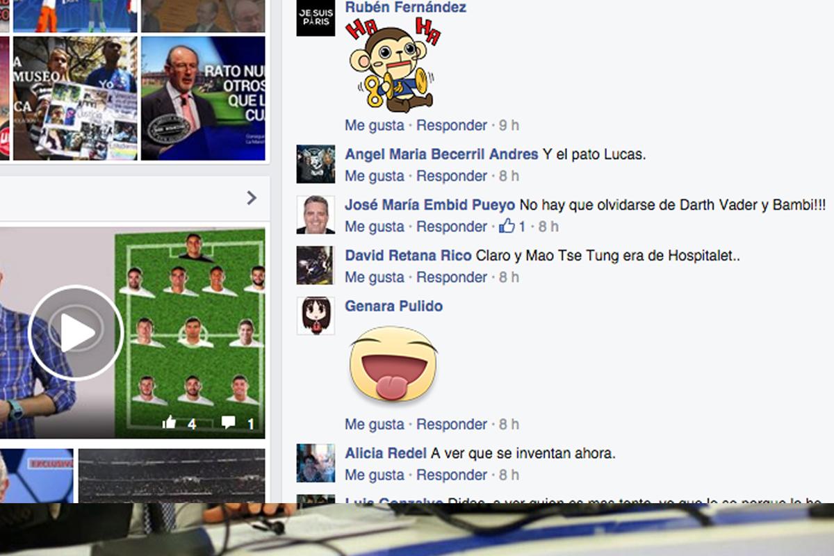 Reacciones de los lectores de Okdiario en Facebook.
