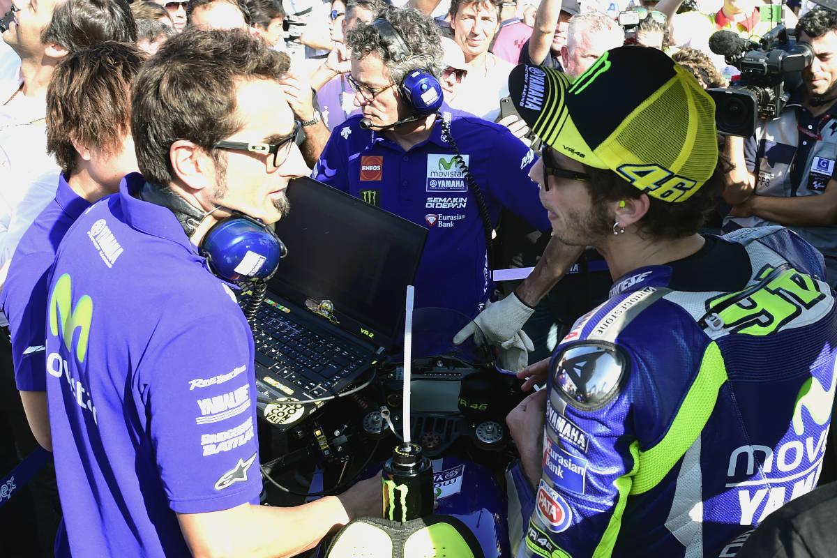 Valentino Rossi, en el circuito de Cheste. (Getty)