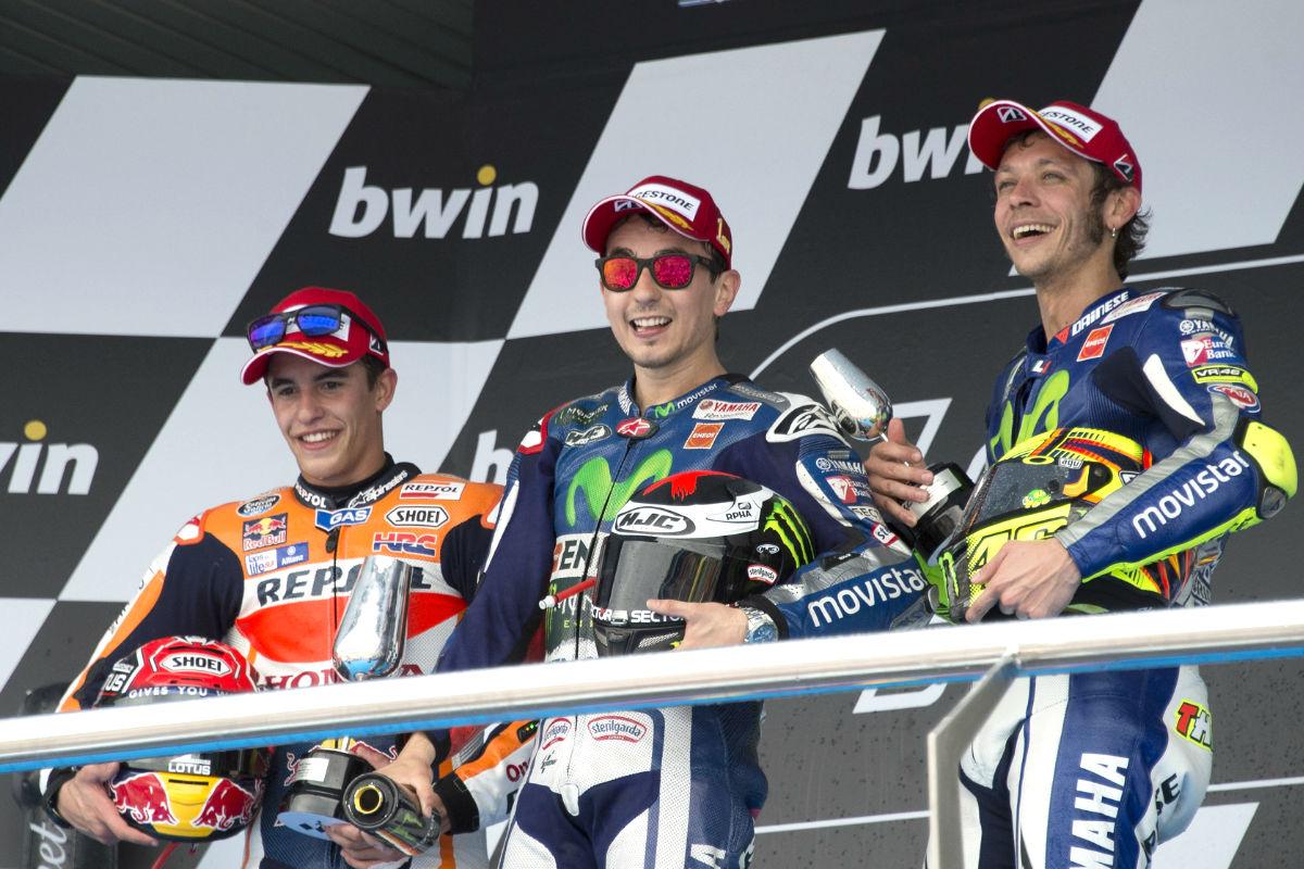 Lorenzo, Márquez y Rossi son los favoritos para hacerse con el título (Foto: Getty)