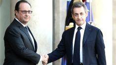 Holland y Sarkozy se reunieron en el Elíseo (Foto: AFP)