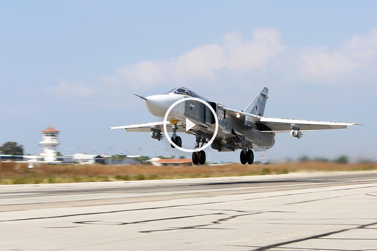 Su-24 ruso como el derribado. (Foto: AFP)