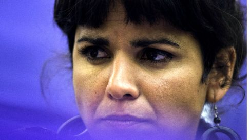 Teresa Rodríguez, líder de Podemos Andalucía, en la celebración de un acto. (Foto: EFE)