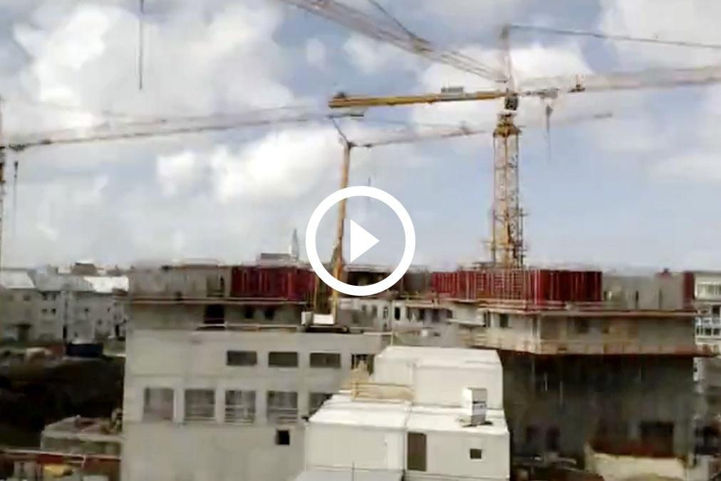 Construcción de un hotel