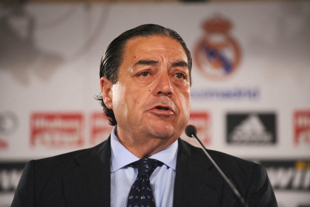 Vicente Boluda, en su primera rueda de prensa como presidente del Real Madrid. (Getty)