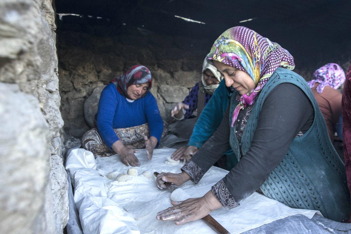 Mujeres que han escapado de Siria