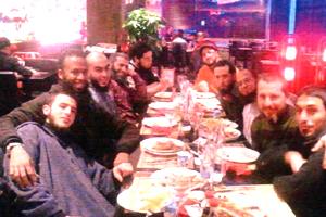De izquierda a derecha: Oialae Cherchi, Abdrabo, El Harchi, Haddouti, Amin Aabou, Nizar Amama, Khalouk, Zayyad, Rachid, Navid Sanati.